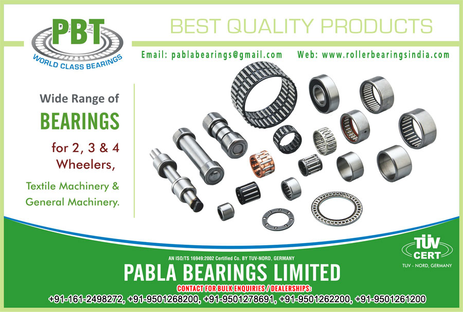 textile machinery bearing ball bearings needle roller bearings manufacturers exporters sellers supplies in India Punjab Ludhiana