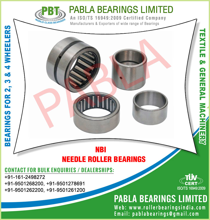 nbi bearings needle roller bearings manufacturers exporters sellers supplies in India Punjab Ludhiana