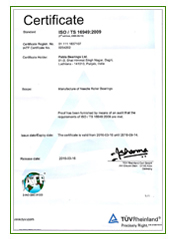 Bearings ISO Certificate in India Punjab